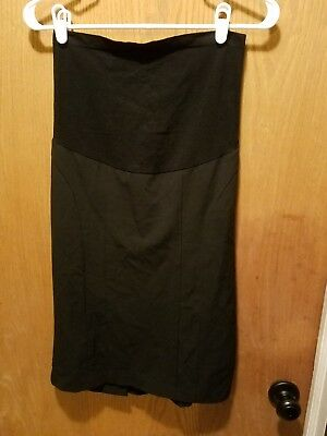 motherhood maternity womens black stretch skirt career casual size small EUC