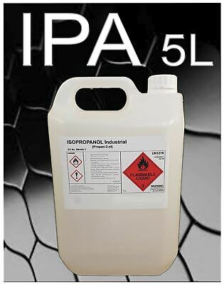 Isopropyl Alcohol IPA PROPAN-2-OL ISOPROPANOL 5 Litre Container 5L C3H7OH 99.9%