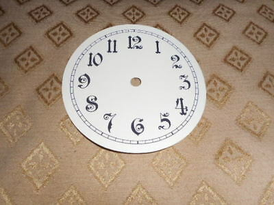 "Round Paper Clock Dial- 4 1/4"" M/T- Arabic-Gloss Cream -Face/ Clock Parts/Spares"