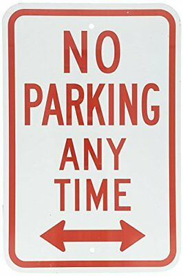 NO TRESPASSING PRIVATE DRIVE Red on White Metal Aluminum Parking Sign 18X12