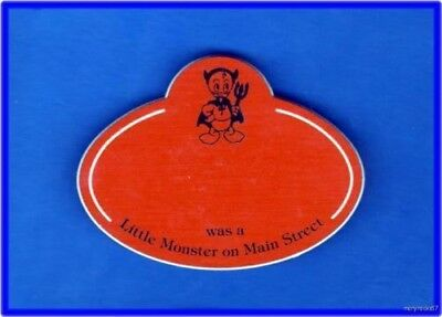 Blank Disney Cast Name Tag Badge Engraved W/ Name Little Monsters On Main Street