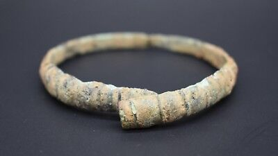 Ancient Celtic bronze bracelet C. 400 - 200 BC