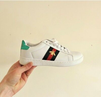 7c33188d5cb WOMENS GUCCI NEW Ace bee-embroidered trainers Size 6 - £73.00 ...