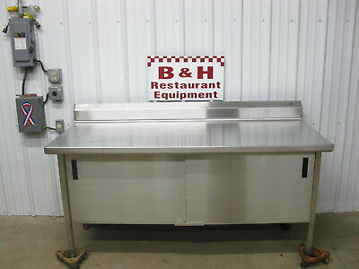 "Universal Stainless Steel 72"" x 30"" Heavy Duty 2 Door Cabinet Work Prep Table 6'"