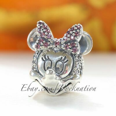Authentic Pandora Bead Shimmering Minnie Portrait Disney Clip 797496CZS Gift Box