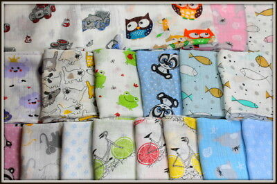 20 set 70 x 80cm Muslin Squares 100% Cotton Cloths Baby Nappies Pieluchy Tetrowe
