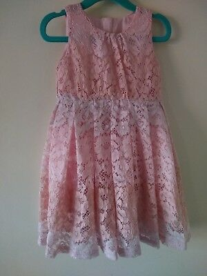 bf965967d8503c Matalan baby girl lace party wedding prom occasion dress 12-18m NWT pink  white