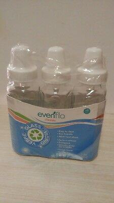 Evenflo baby glass bottles 8 oz.Easy to clean, Ecofriendly, New twist shape.New