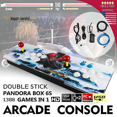 1500 in 1 Pandora Box 6s Retro Video Games Double Stick Light Arcade Console US