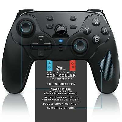 CSL - Nintendo Switch Pro Gamepad | Wireless Controller (Bluetooth) | Gamecontro