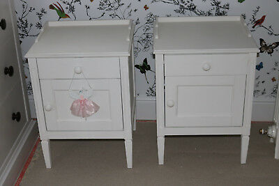 Loaf Com Matching Pair Of 2 White Bedside Tables Cabinets 208 00