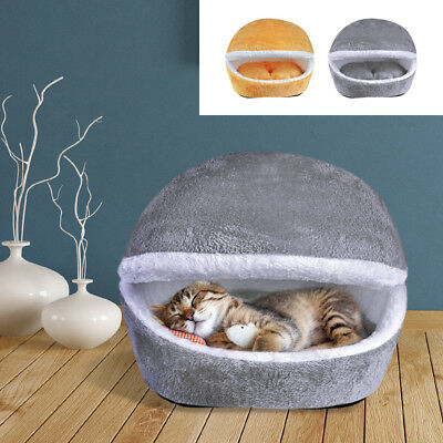 Warm Winter Cat House Kitten Cave Bed Warm Sofa Mats Cushion Pet Nest Kennel