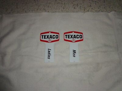Vintage Texaco Mens and Womens Rest Room Key Holders