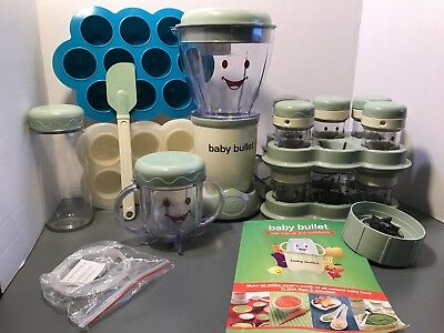 Baby Bullet Blender Food System Baby Food Prep Set~w/ Storage Containers ~ Works