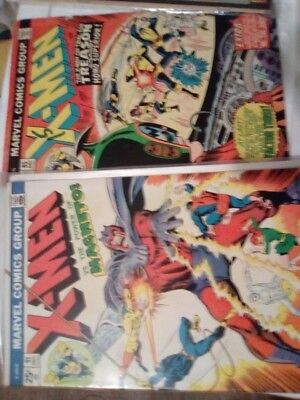 5 x alte X-Men 76 77 85 91 King-Size Special 1
