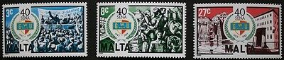 40th anniversary of general workers union stamps 1983 Malta, SG ref: 722-724 MNH