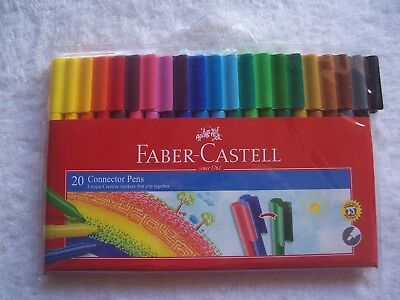 BNIP Faber-Castell 20 Pack Connector Pens/Textas