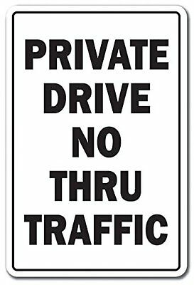 """No Outlet Private Road No Trespassing 8/"""" x 12/"""" Aluminum Sign Made in USA Yel//Blk"""