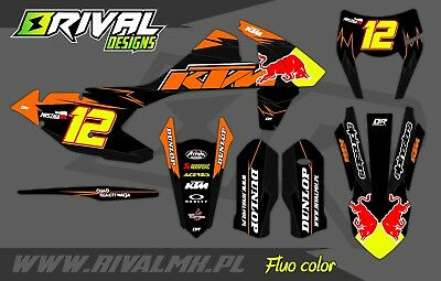 KTM EXC EXC-F XC-W 2017 2018 2019 Graphics Decals Stickers Dekor Rival Designs