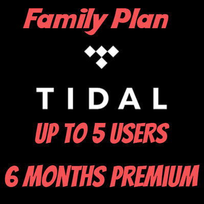 Tidal Music Premium Family Plan Account |6 MONTHS| 5 USERS| INSTANT DELIVERY