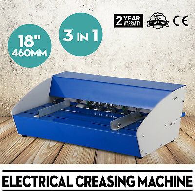 3-in-1 Electrical Creasing Machine Creaser paper Perforating Paper 18 460m