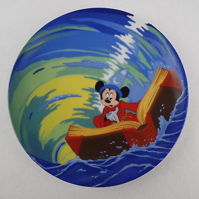 "Walt Disney Knowles Collectible Fantasia ""mickey's Magical Whirlpool"" Plate 1990"
