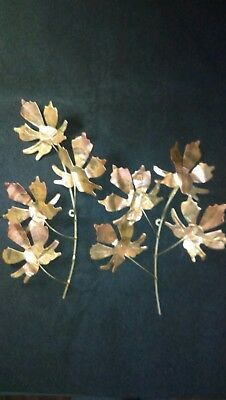 Vintage Copper Leaves Branches Wall Hanging Decor