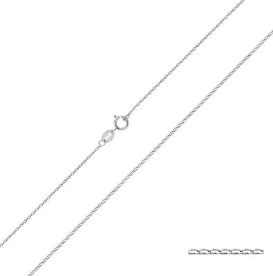 Chaine Courbe Femme Argent Fin - 40.6, 45.7, 50.8cm