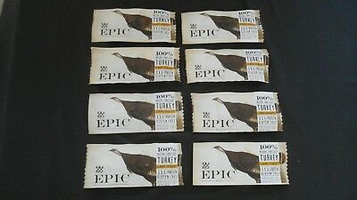 8 Count Lot Of Epic Bar 100% Natural Turkey Almond + Cranberry Bars 1.5 Oz Ea @
