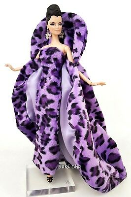 Purple Dress Coat Outfit For Silkstone Barbie Fashion Royalty Integrity Toys FR