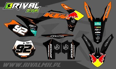 KTM SX SXF 2011 2012 Graphics Decals Stickers Dekor Rival Designs