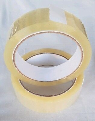 Clear Selotape 24mm x 66M Packing Tape Sticky Dispenser X2