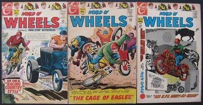 World Of Wheels # 18 23 25 (Lot Of 3) Charlton - Jack Keller - Motorcycles