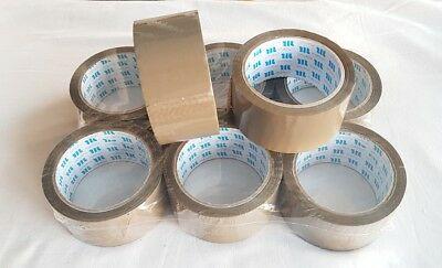 Brown Selotape Tape Parcel 48mm x 66M Packing Sticky Rolls Box Sealing Packaging