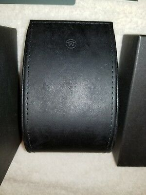 MOVADO BLACK LEATHER WATCH INNER & OUTER BOX SET watch not included