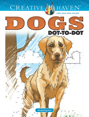 Dover Publications Dogs Dot-to-Dot Adult Coloring Book