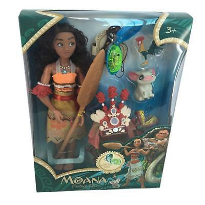 2018 Moana Singing Feature Doll Set 11'' & Clothing & Accessories