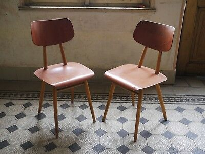Pair of Czechoslovakian 1960's chairs Ton Thonet Kitchen chairs