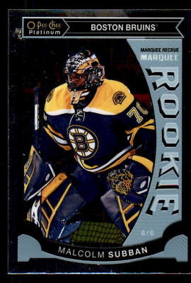 2015-16 O-Pee-Chee Platinum Marquee Rookies #M5 Malcolm Subban RC (ref 26409)