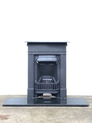 Restored Edwardian Cast Iron Bedroom Fireplace