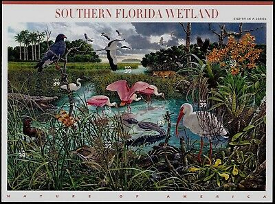 USPS Stamps Nature of America Southern Florida Wetland 8th in series 2005 +BONUS