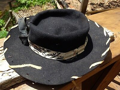 Rare Vintage Rare 1950's Dale Evans Black Cowgirl Hat Queen Of West Roy Rogers