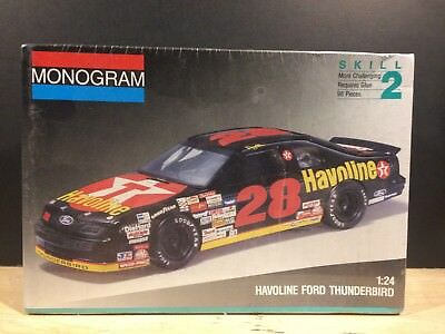 Davey Allison #28 Havoline Texaco Oil Ford Thunderbird Monogram Model 1:24 New!