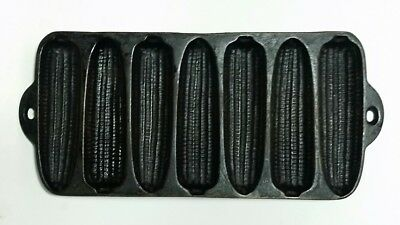 7 Ear Corn Stick Muffin Pan Cast Iron Vintage Antique Unmarked