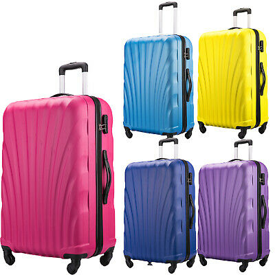 "28"" Large Suitcase Medium on 4 Wheels Lightweight Hard Shell Luggage Abs Travel"
