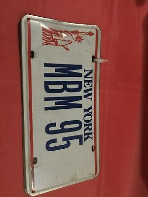 Vanity New York Statue of Liberty License Plate Set of 2-Red White Blue MBM 95