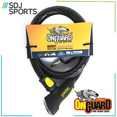 Onguard Akita 8037 Cable Loop Bike Lock Extra Cable to use with Cycle U-Lock
