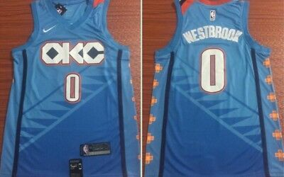 official photos 28417 56abb RUSSELL WESTBROOK OKLAHOMA Thunder Nike City Edition Swingman Jersey  2018/2019