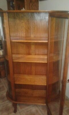 Tall Wooden China/Curio Cabinet with glass doors