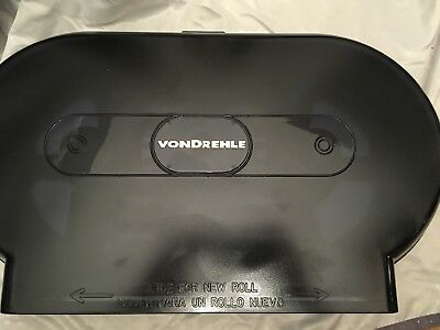 Von Drehle Twin / Dual Jumbo Roll Toilet Tissue Paper Dispenser commercial grade